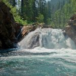 Waterfall on the river Osinovka